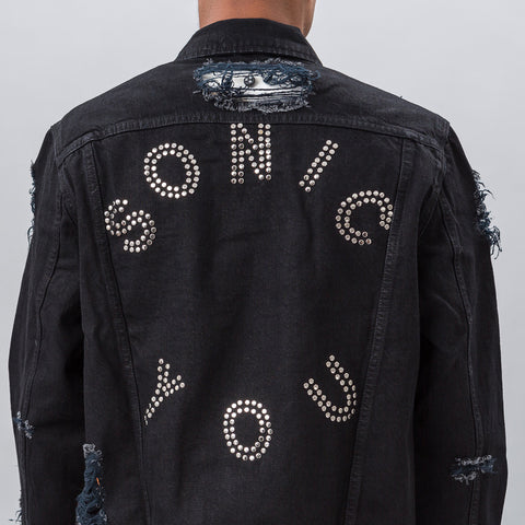 MISBHV Sonic You Studded Denim Jacket in Black - Notre