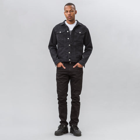 MISBHV Warszawa 1980 Denim Jacket in Black - Notre