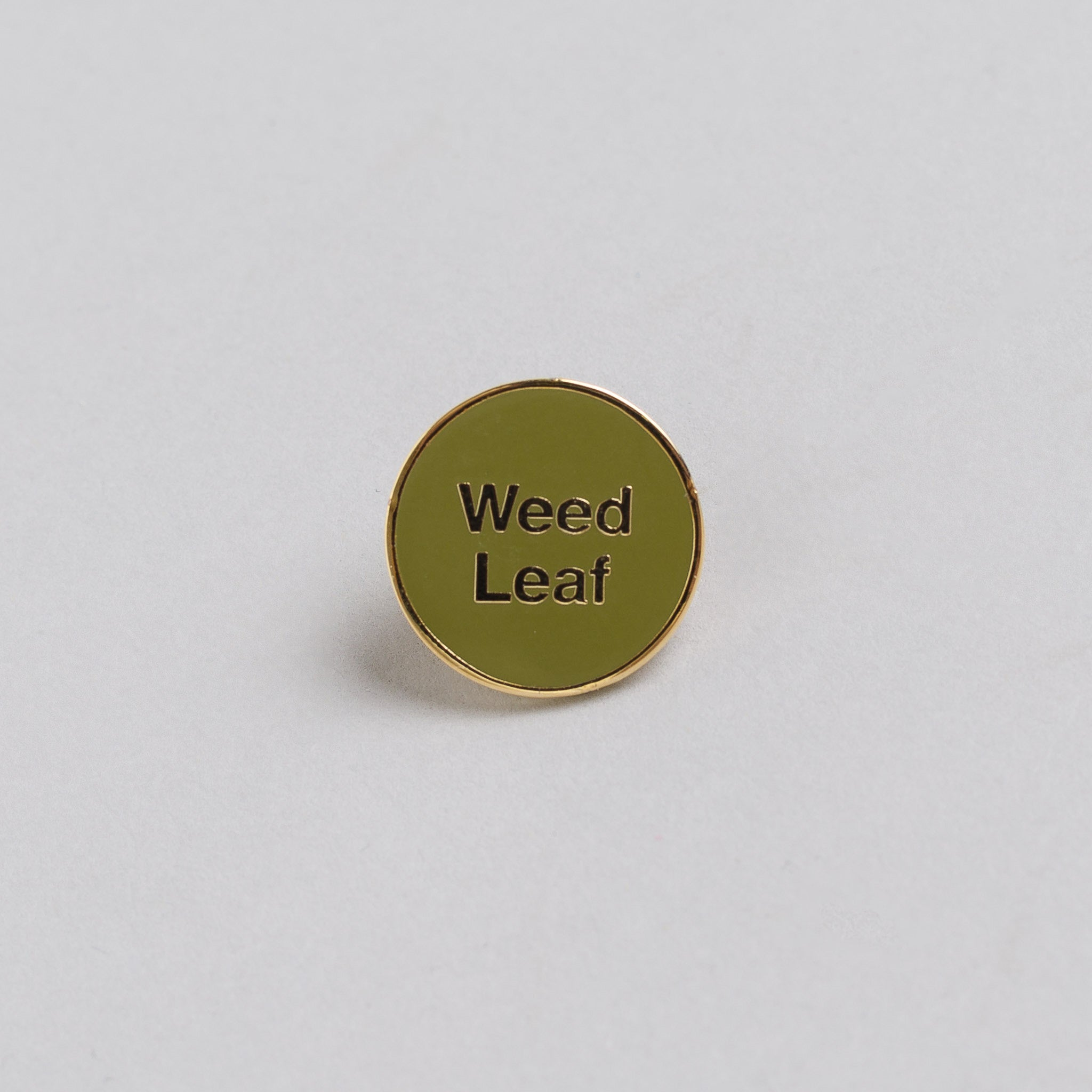 x Cody Hudson Gold Weed Leaf Pin in Green