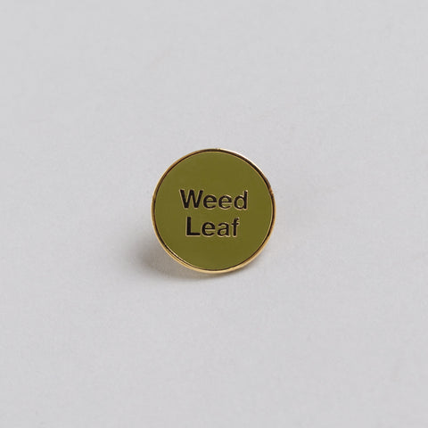 Mister Green x Cody Hudson Gold Weed Leaf Pin in Green - Notre