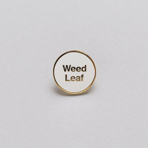 Mister Green x Cody Hudson Gold Weed Leaf Pin in White - Notre