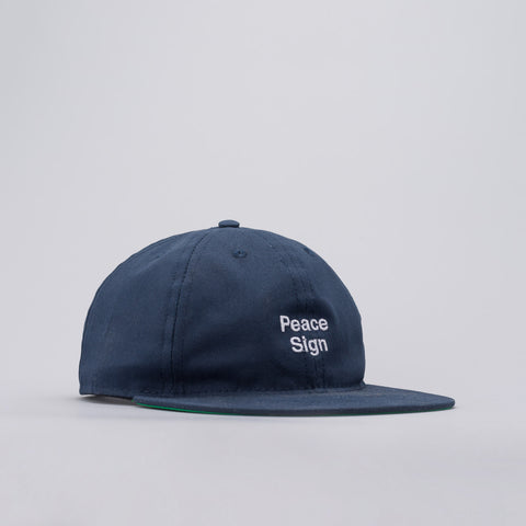 Mister Green x Cody Hudson Peace Sign Cap in Faded Navy - Notre