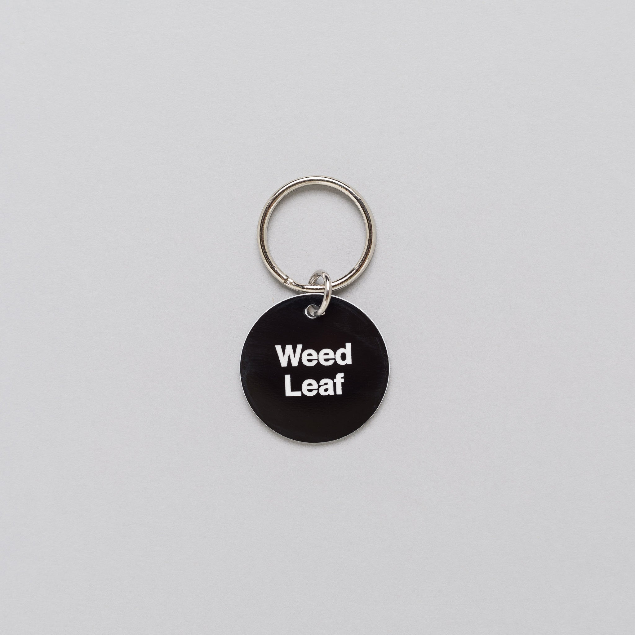 x Cody Hudson Weed Leaf Circle Keytag in Black