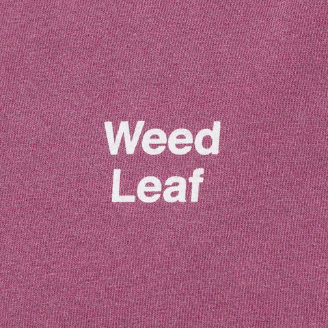 Mister Green x Cody Hudson Weed Leaf T-Shirt in Plum - Notre