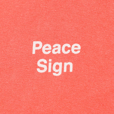 Mister Green x Cody Hudson Peace Sign T-shirt in Salmon - Notre