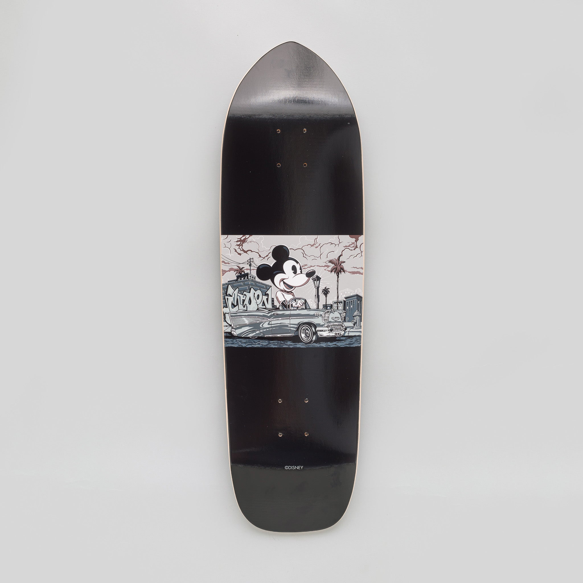 x Disney x Mr Cartoon Mickey Skate Deck in Black
