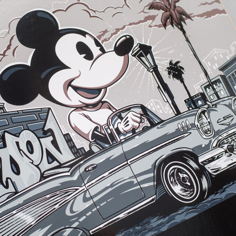Vans Vault x Disney x Mr Cartoon Mickey Skate Deck in Black - Notre