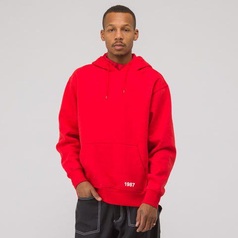 NAPA by Martine Rose Kasra Hooded Sweatshirt in Red - Notre