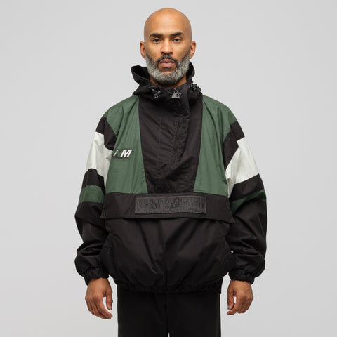 NAPA by Martine Rose Huez Anorak Jacket in Black/Green/White - Notre