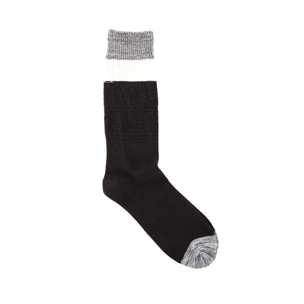 Necessary Anywhere Sock One in Black/White/Grey Flat Single Sock Shot