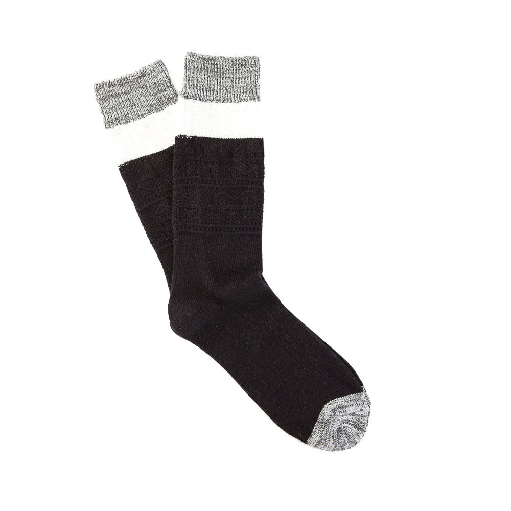 Sock One in Black/White/Grey