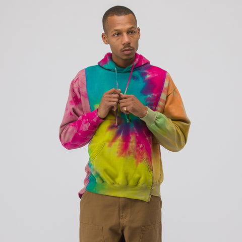 Needles 3 Cuts Hooded Sweatshirt in Tie Dye - Notre