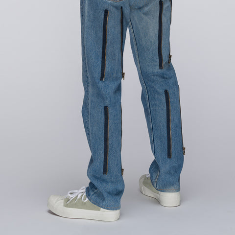 Needles 501 Zipper Pant in Blue - Notre