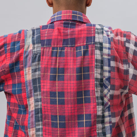Needles 7 Cuts Flannel Shirt in White Dye - Notre