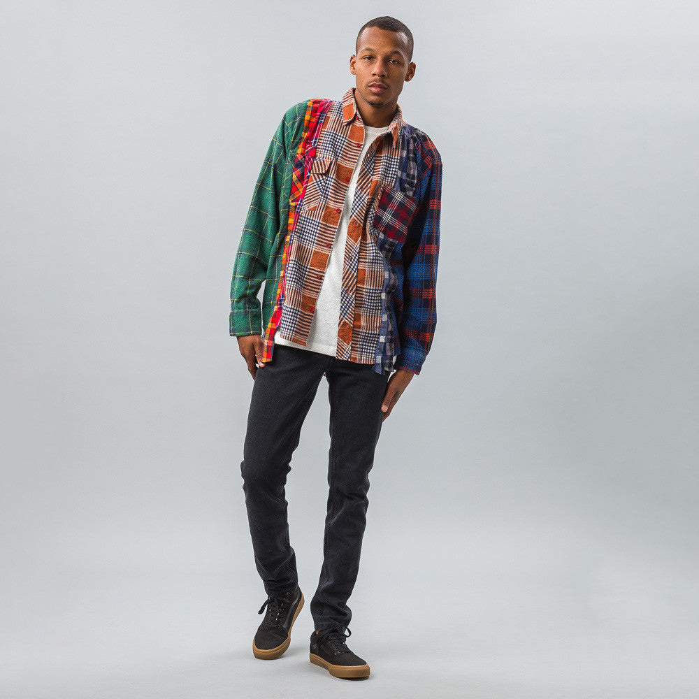 Needles 7 Cuts Flannel Shirt Model Shot