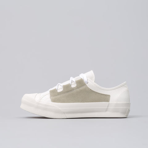 Needles Asymmetric Ghillie Sneaker in White - Notre