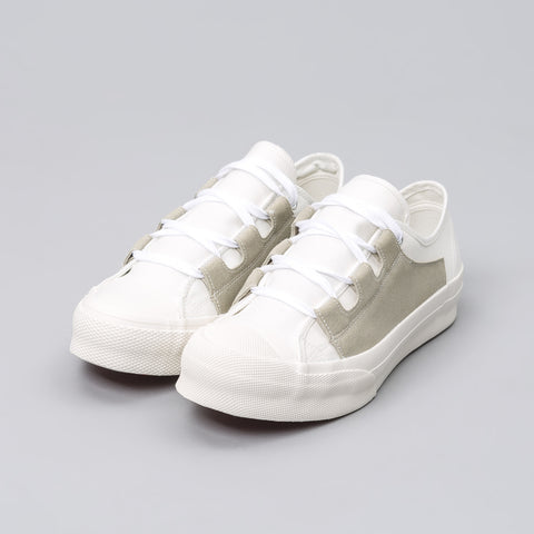 Needles Asymmetric Ghillie Sneaker in Off White - Notre