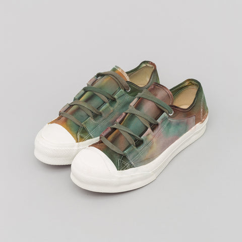 Needles Asymmetric Ghillie Sneaker in Brown/Green - Notre