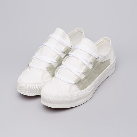 Needles Asymmetric Ghillie Sneaker in Off-White - Notre