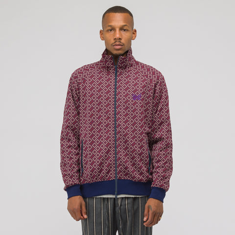 Needles Block Track Jacket in Bordeaux - Notre