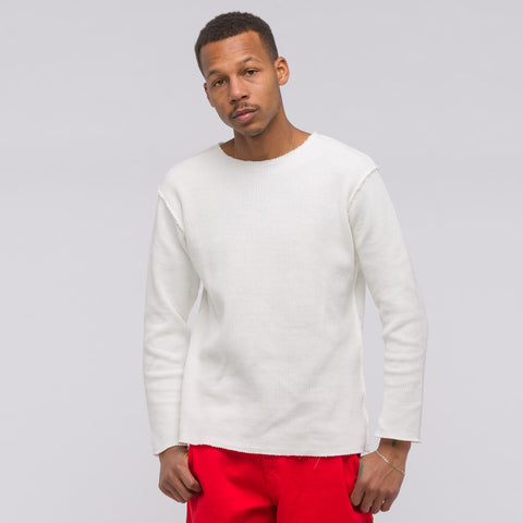 Needles Boat Neck Long Sleeve T-Shirt in Off White - Notre