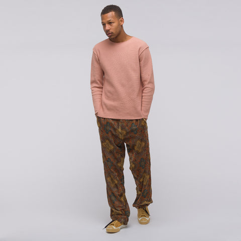 Needles Boat Neck Long Sleeve T-Shirt in Pink - Notre