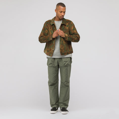 Needles Darts Jean Jacket Dobby in Brown/Olive - Notre