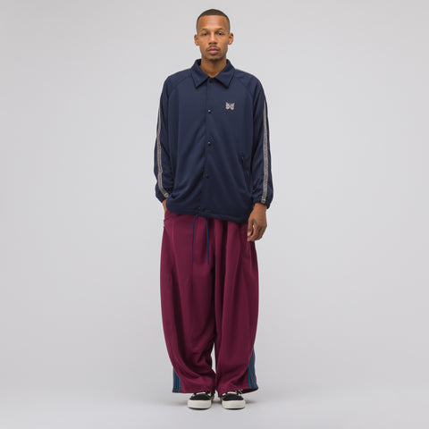 Needles HD Poly Smooth Track Pant in Maroon - Notre
