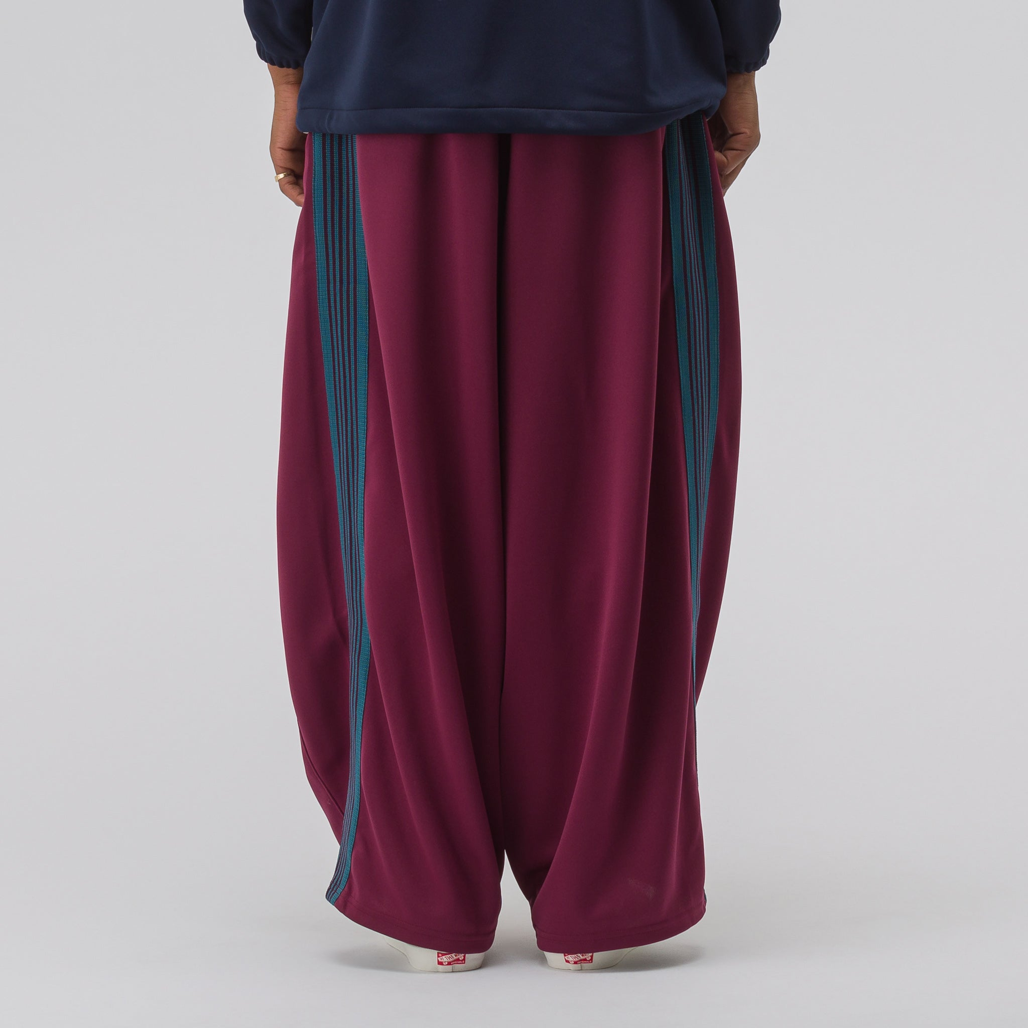 HD Poly Smooth Track Pant in Maroon