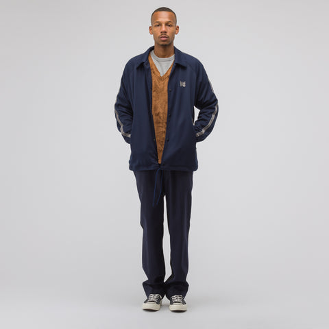Needles Side Line Poly Coach Jacket in Navy - Notre