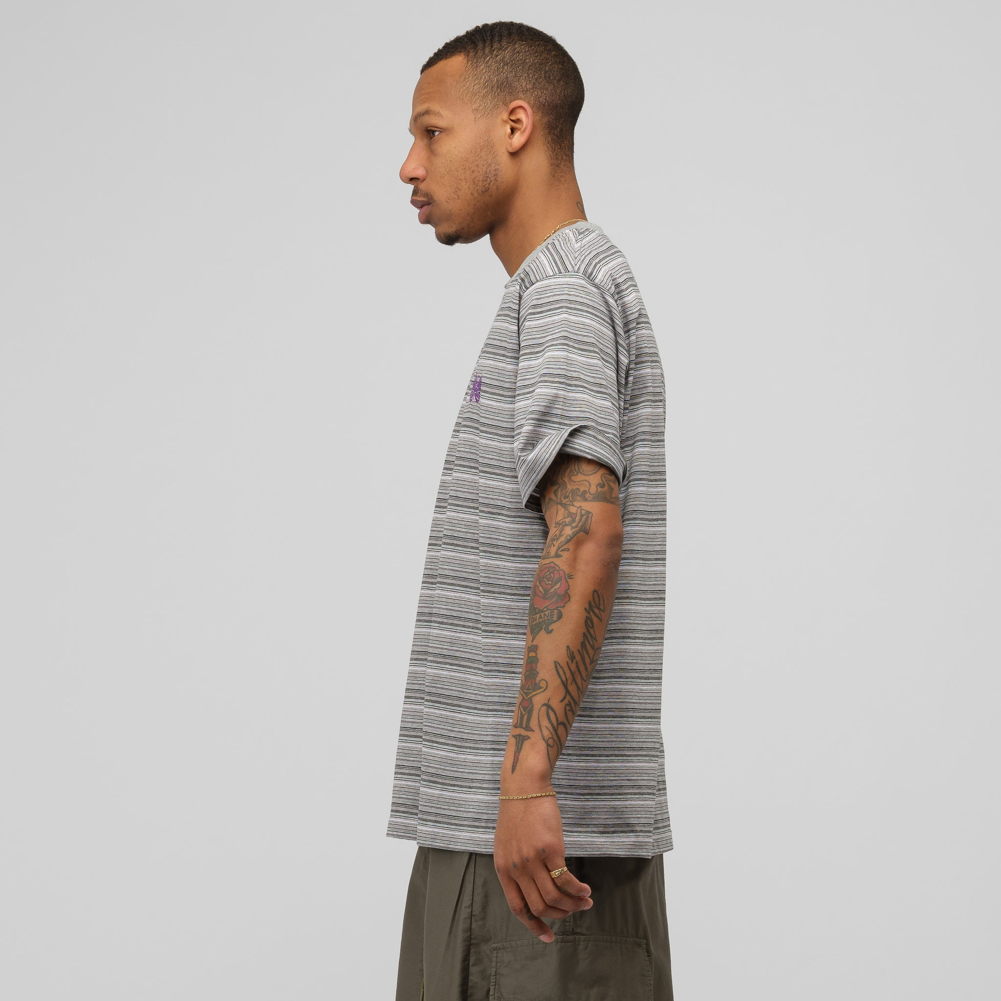 Papillon Short Sleeve T-Shirt in Grey