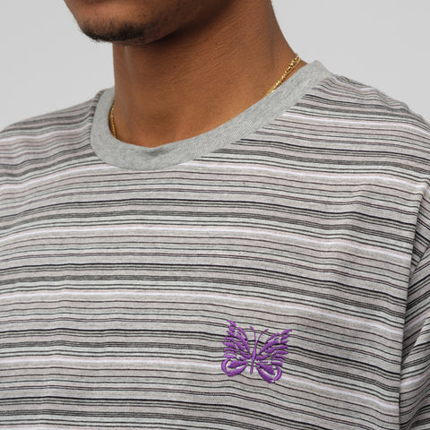 Needles Papillon Short Sleeve T-Shirt in Grey - Notre