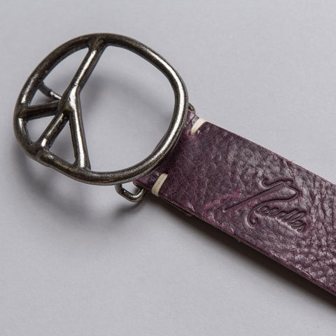 Needles Peace Sign Belt in Purple - Notre