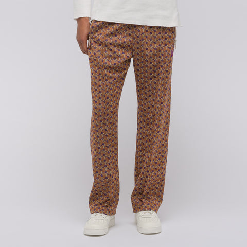 Needles Poly Jacquard Track Pant in Brown Floret - Notre