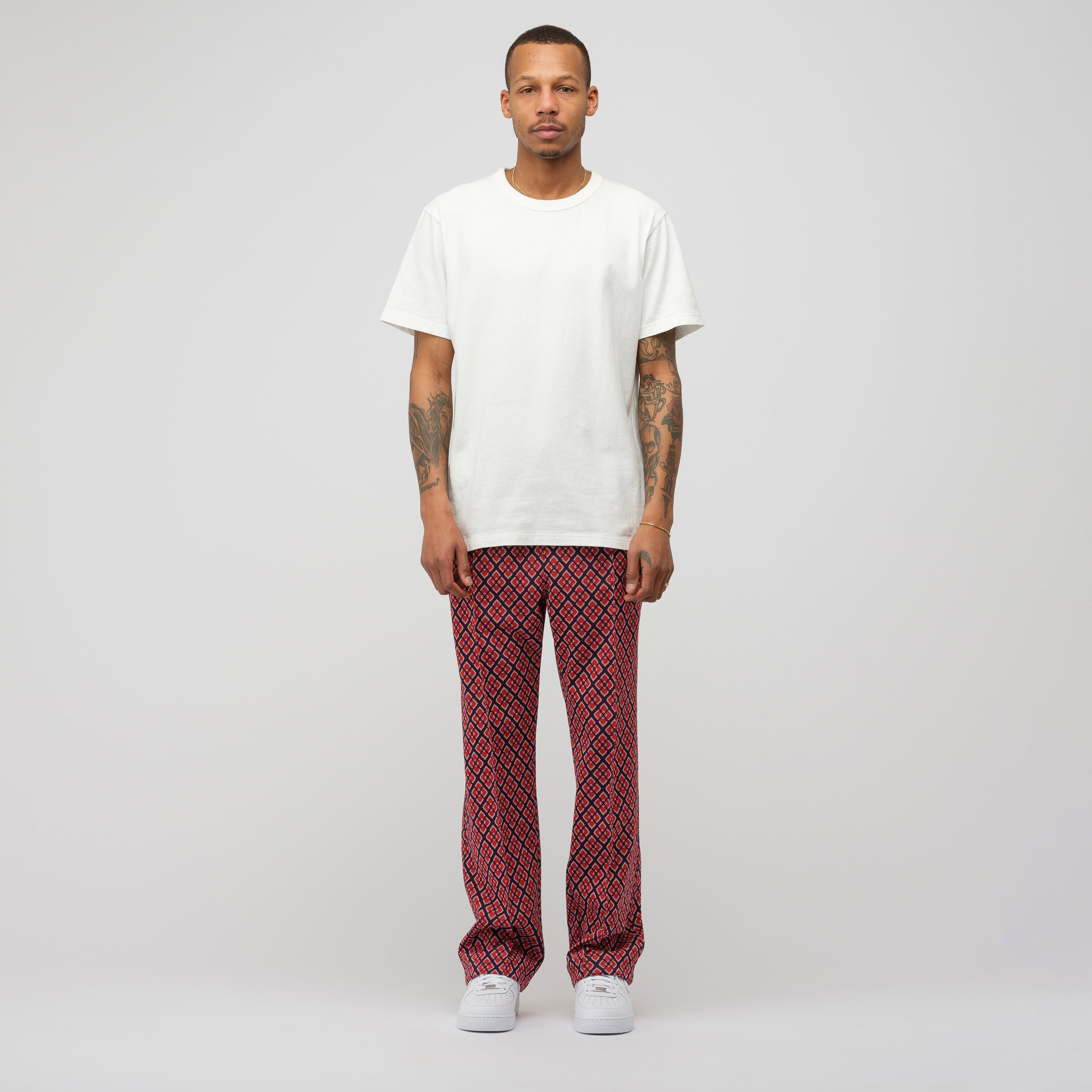Poly Jacquard Track Pant in Diamond
