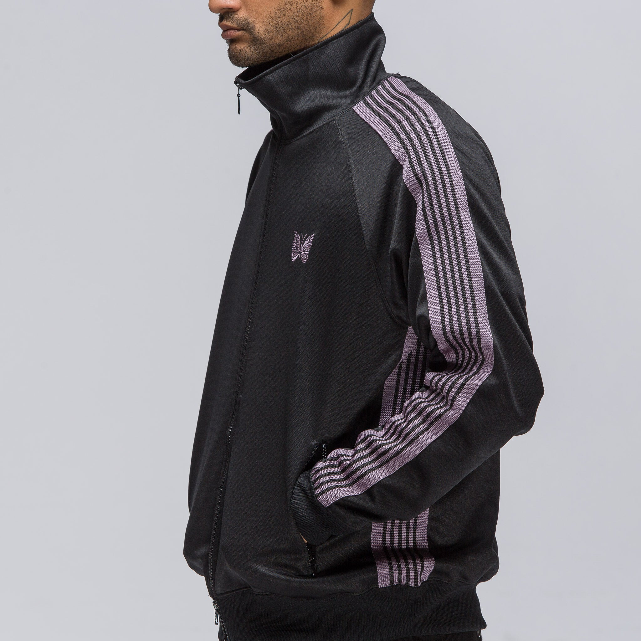 Poly Smooth Track Jacket in Black