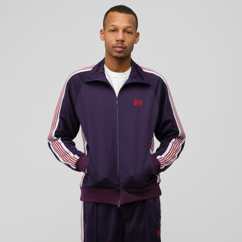 Needles Poly Smooth Track Jacket in Eggplant - Notre