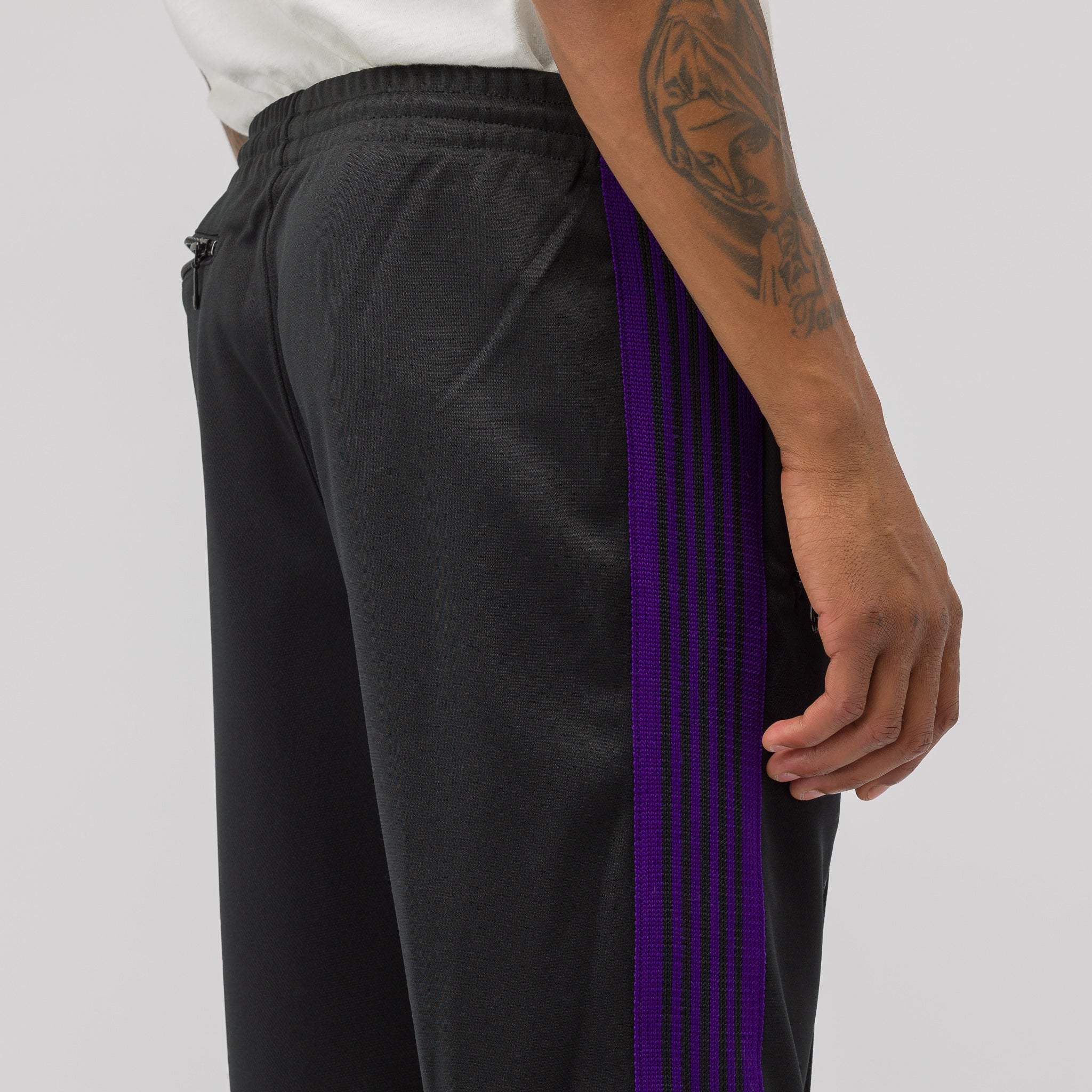 Poly Smooth Track Pant in Black