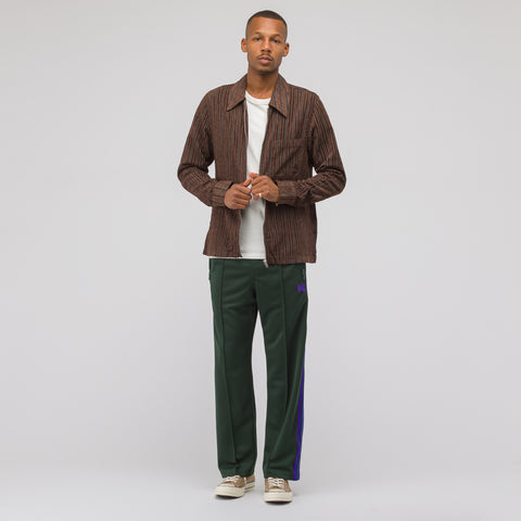 Needles Poly Smooth Track Pant in Green - Notre