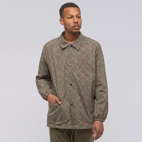 Needles Poly Taffeta Coach Jacket in Olive Paisley - Notre