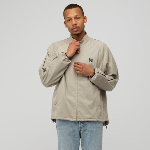 Needles Run-Up Poly Dry Twill Jacket in Grey - Notre