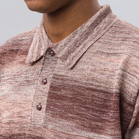 Needles Splashed Pattern Polo Sweater - Notre
