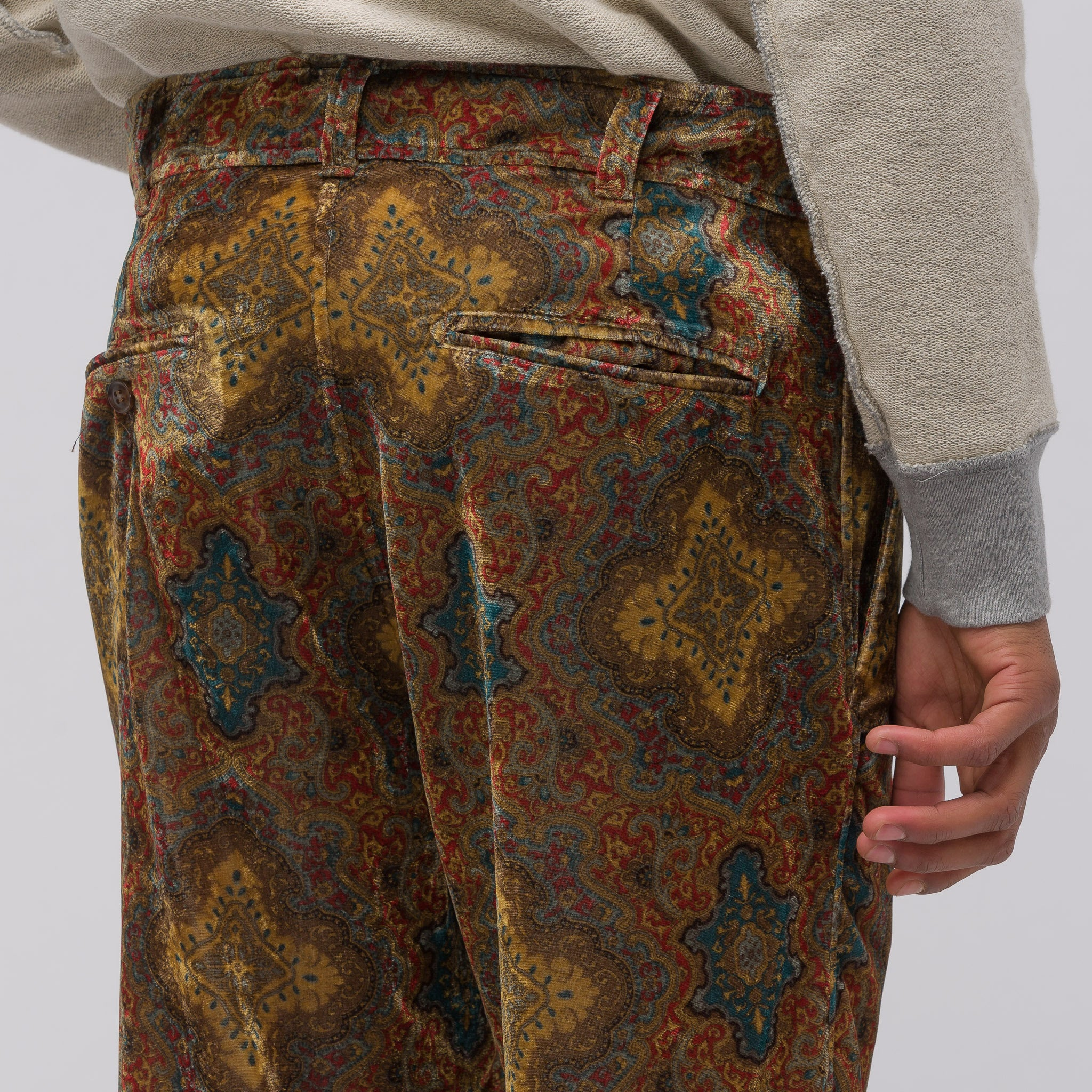 String Cuff Trouser in Brown