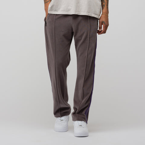 Needles Narrow Track Pant C/PE Velour in Grey - Notre
