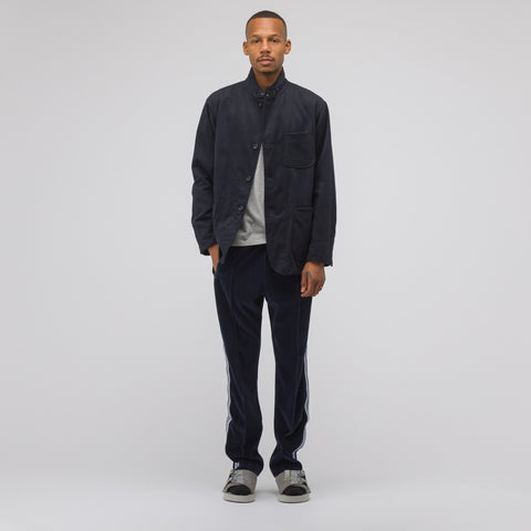 Needles Velour Narrow Track Pant in Navy - Notre