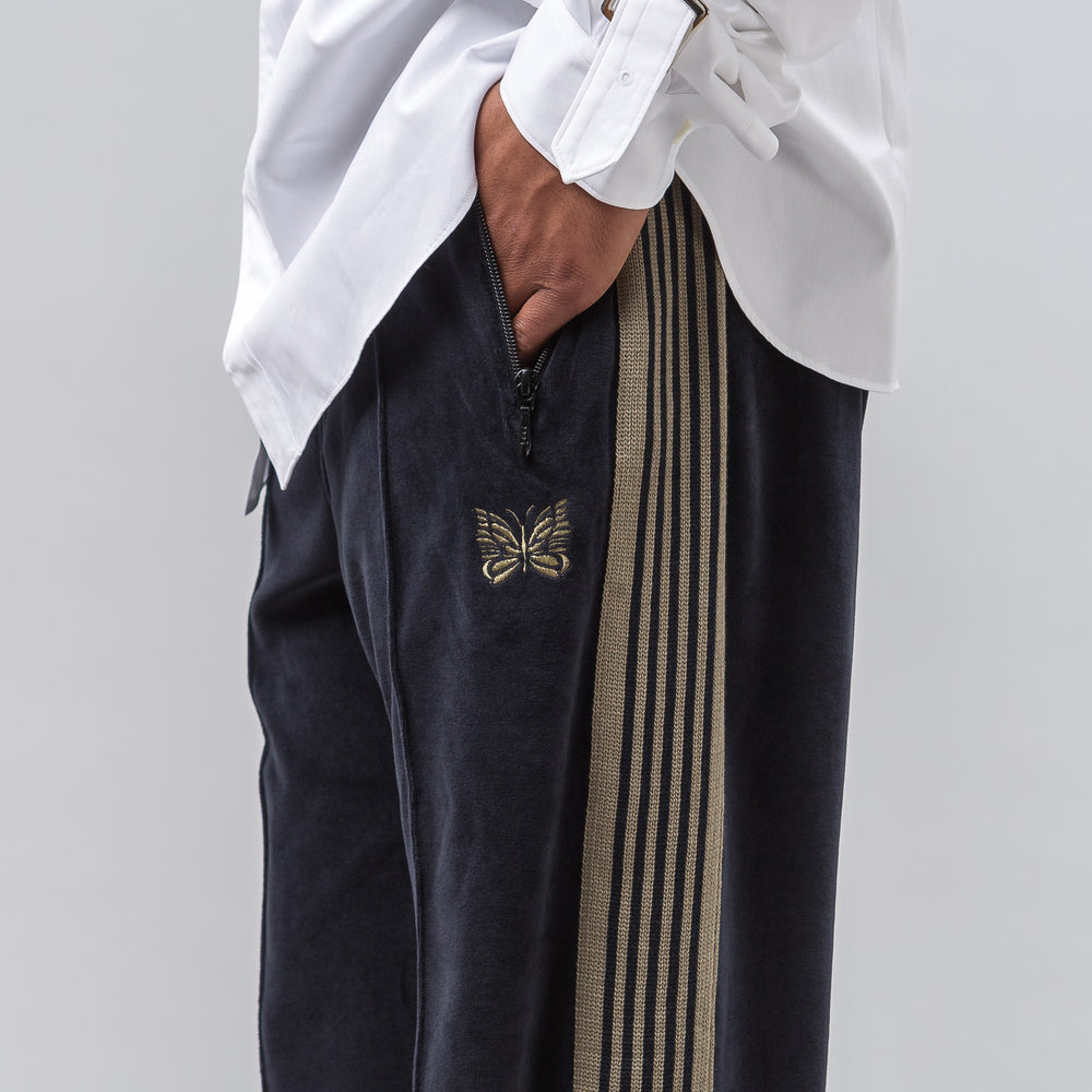 Needles Velour Track Pant in Navy - Notre
