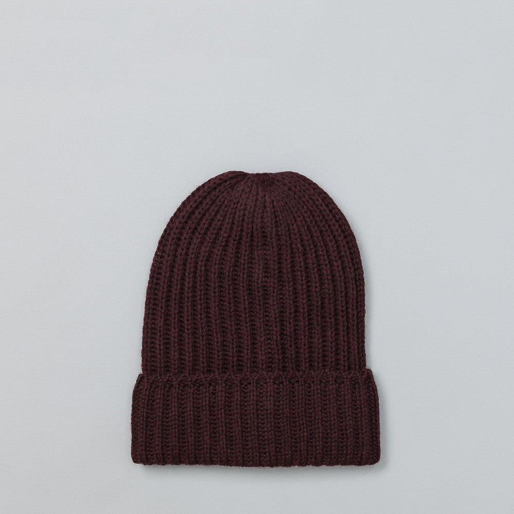 Needles Watch Cap in Bordeaux Flat Shot