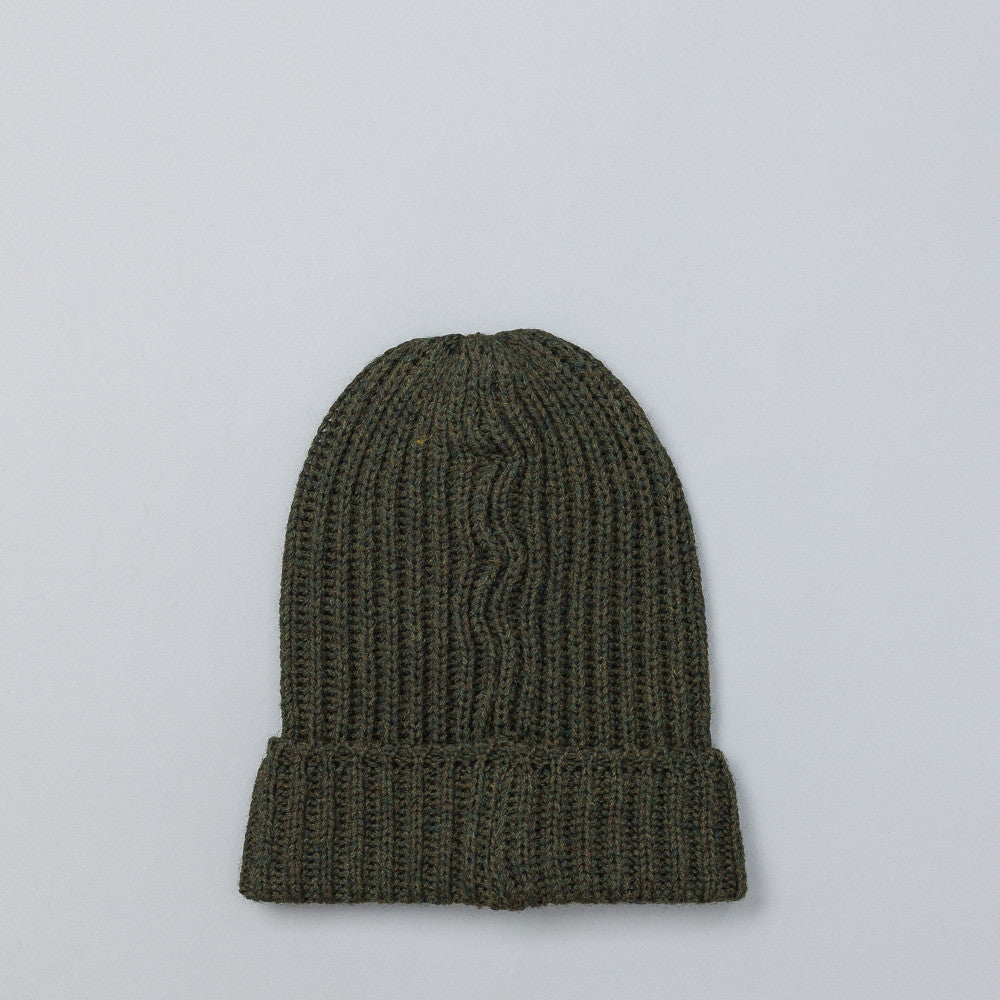 Needles Watch Cap in Green Flat Shot