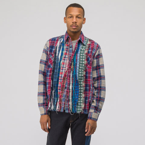 Needles Wide Ribbon Flannel Shirt in Assorted - Notre