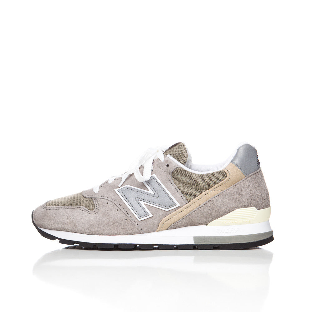 New Balance M996 in Grey Suede Side View